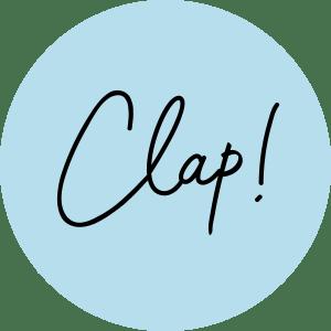 Le Clap Store - Grand logo rond bleu clap noir