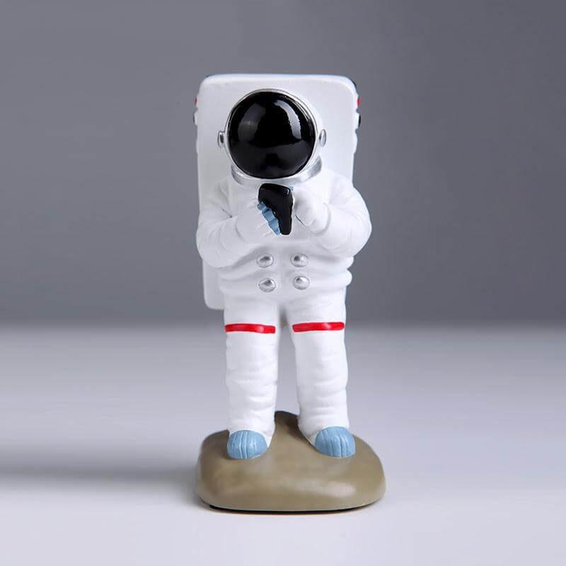 Support pour téléphone astronaute debout- vue de face