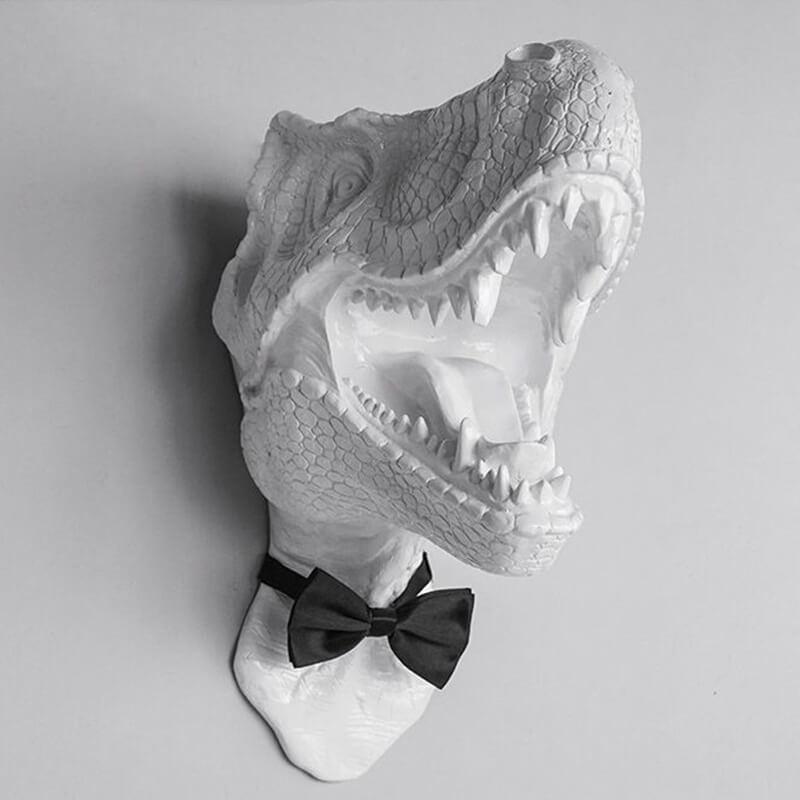 Trophée dinosaure - vue de face