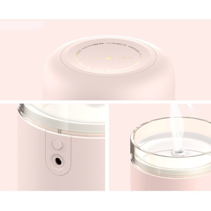 Détails humidificateur d'air bougie rose