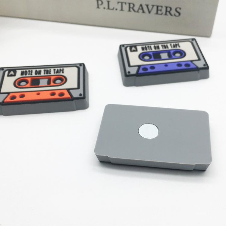 Magnets vintage cassettes - vue du dessous