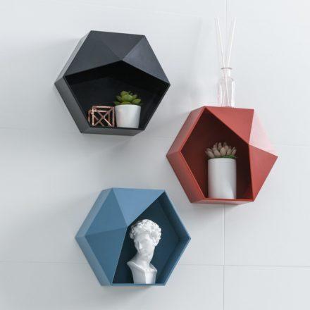 étagère hexagonale - différents coloris