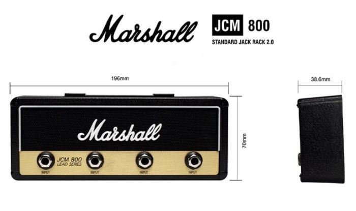 Porte-clés mural Marshall JCM800 avec dimensions