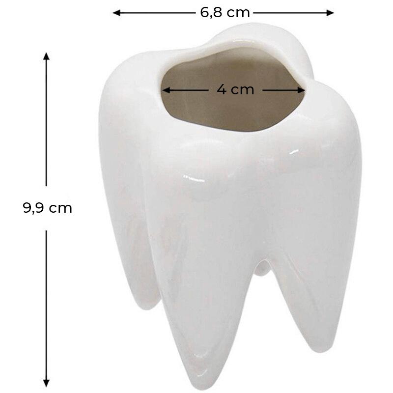 Pot de fleur dent - dimensions
