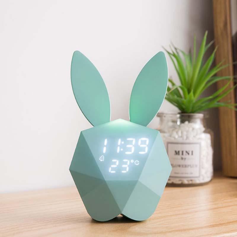 réveil lapin bleu
