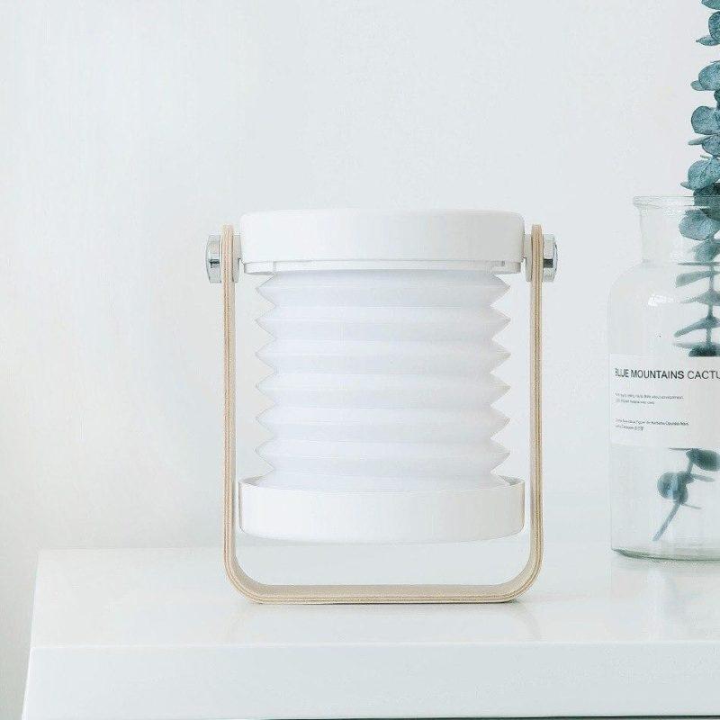 Lanterne design accordéon blanche