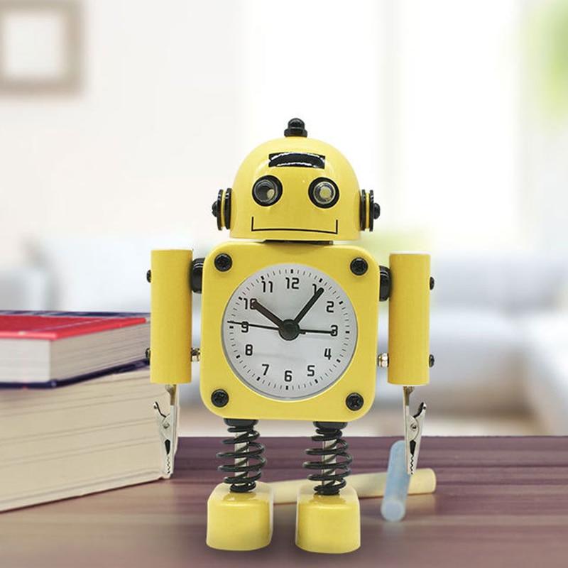 réveil robot jaune