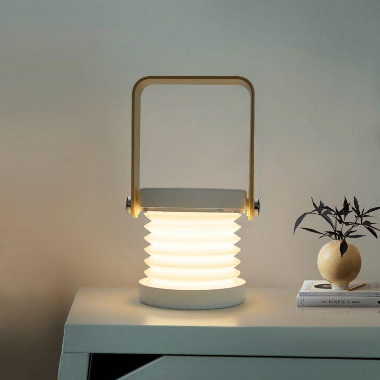 Lampe design accordéon blanche