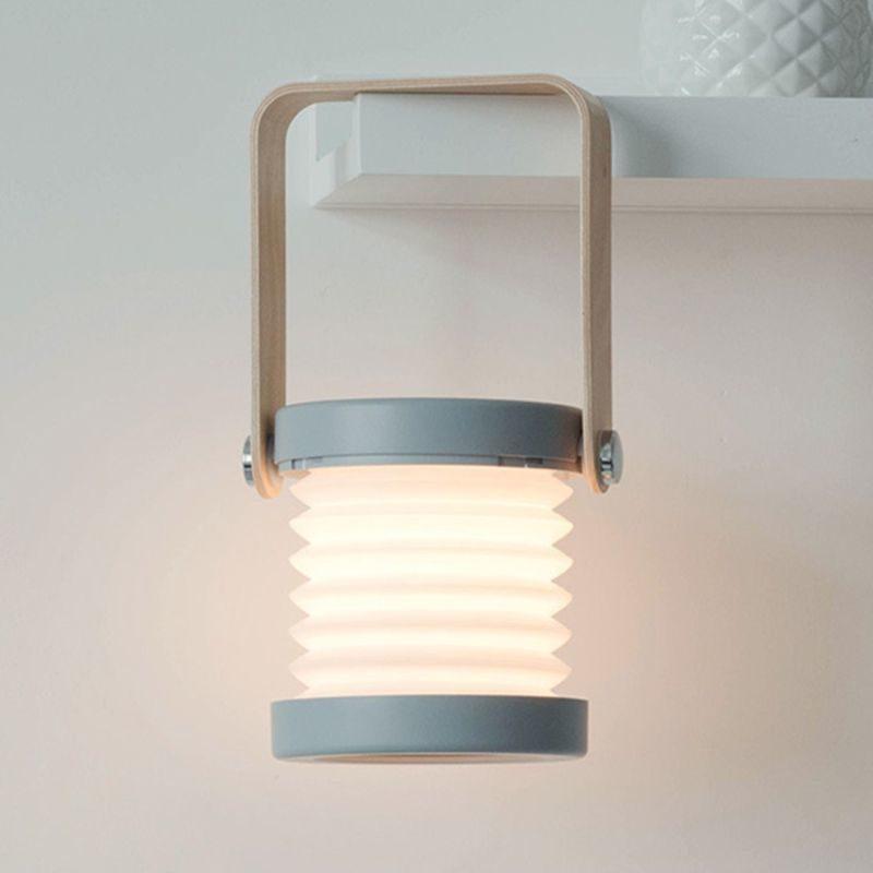 Lanterne design accordéon grise