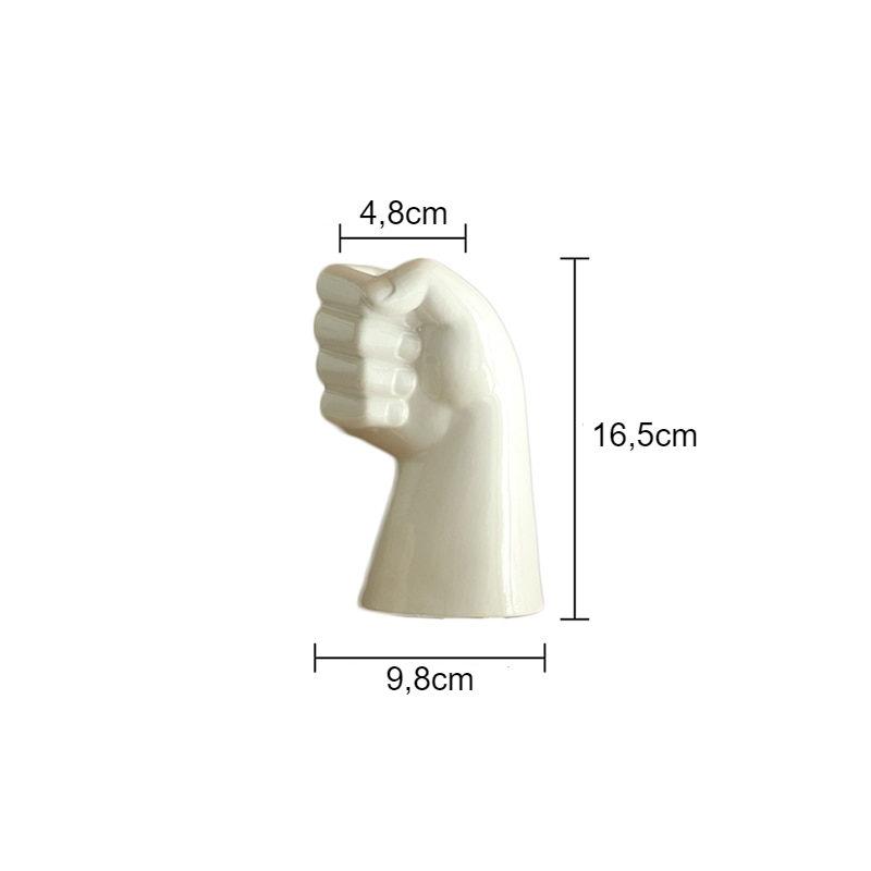 vase mains en céramique avec dimensions