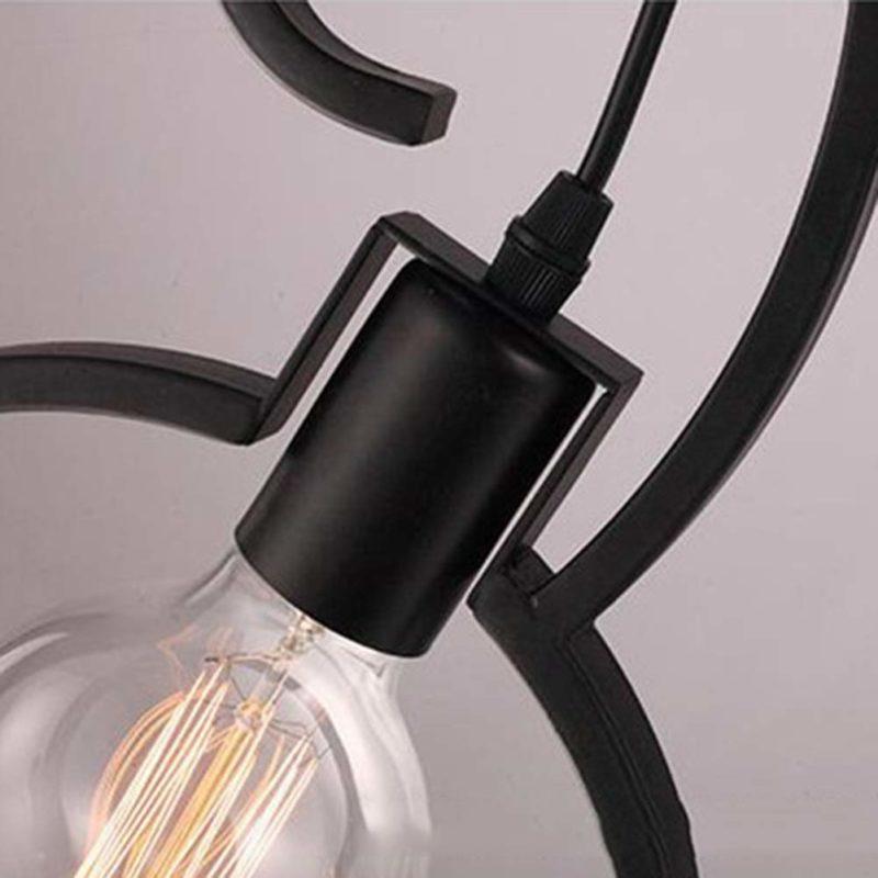 Lampe vélo noir en détails