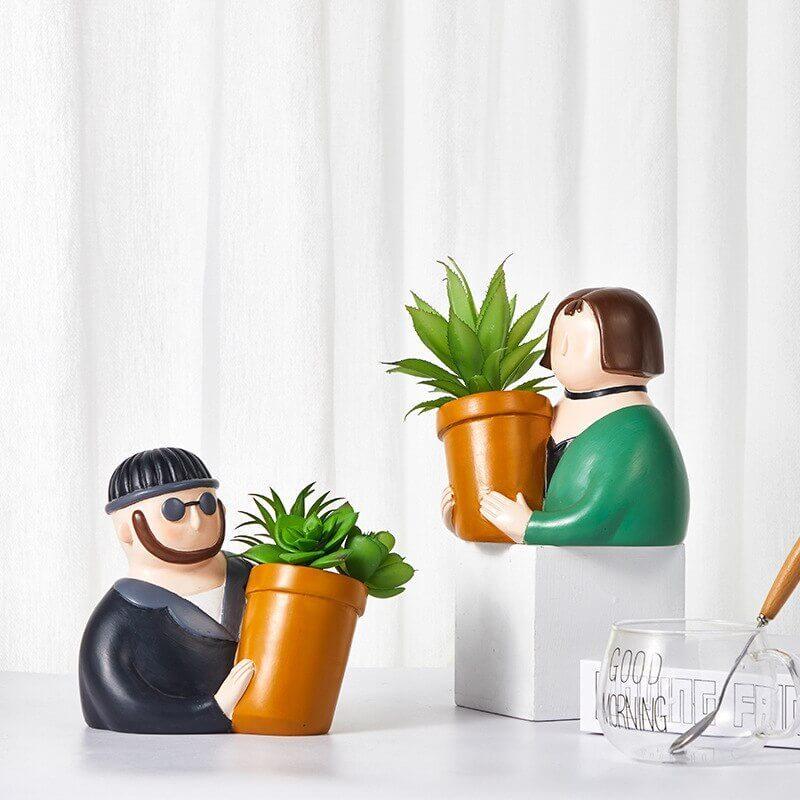 Pot de fleurs Leon et Mathilda