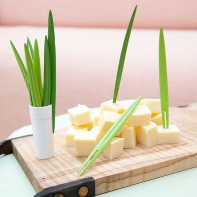 Piques apéritives bambou avec fromage