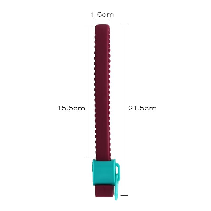 Ouvre bocal zip en silicone avec dimensions