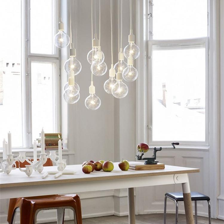 suspension lumineuse dans cuisine