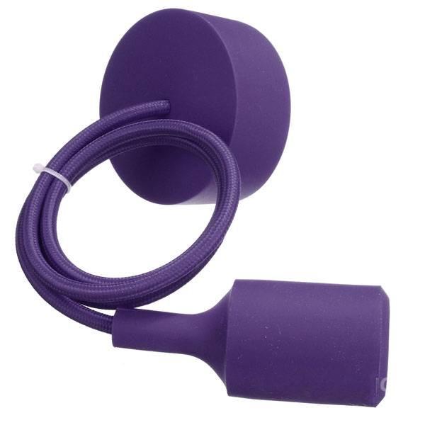 Suspension fil coloré violet