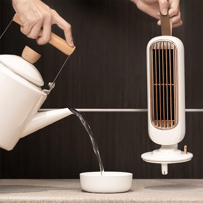 remplissage du ventilateur brumisateur vintage