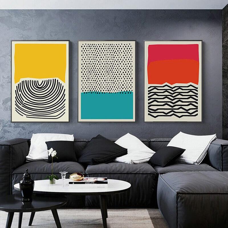 toiles abstraites colorées