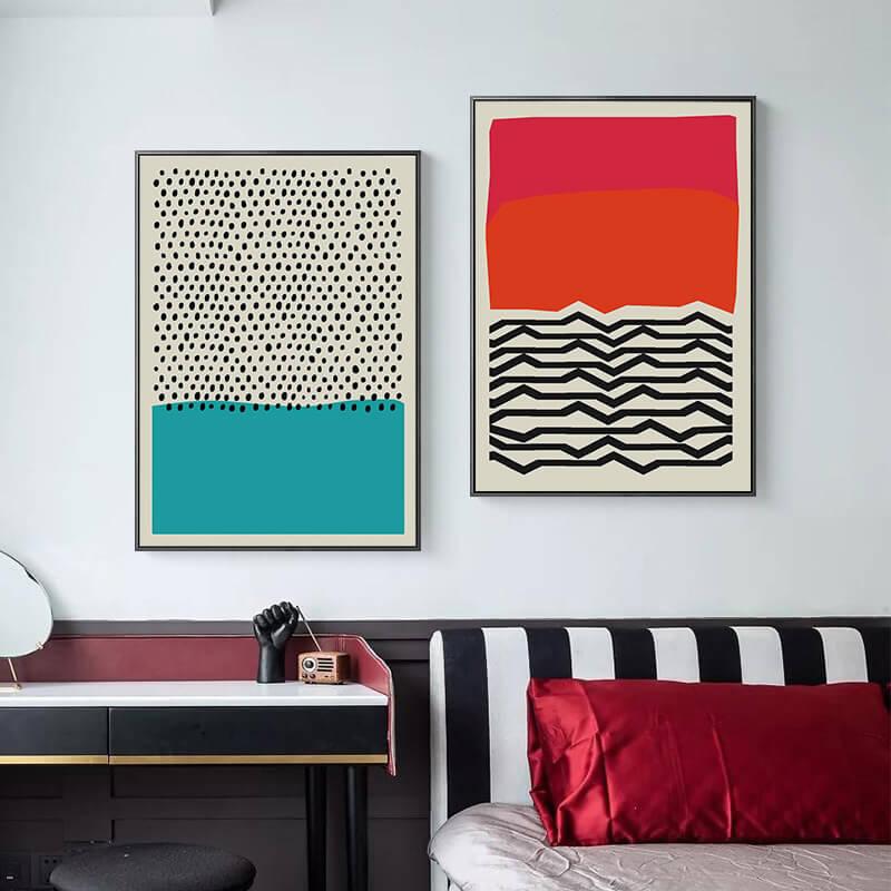 toile abstraite design