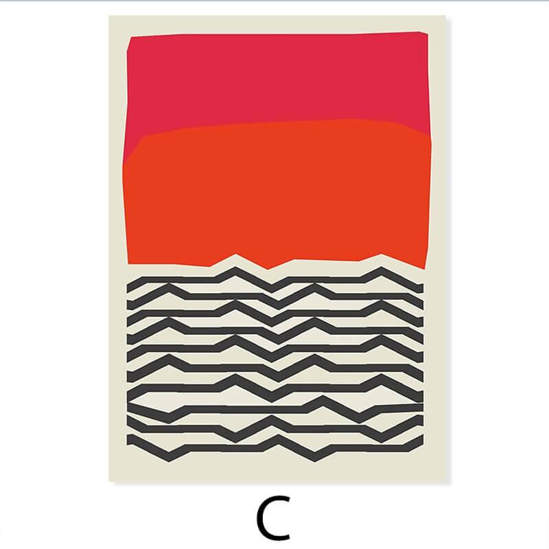 toile abstraite colorée rose orange