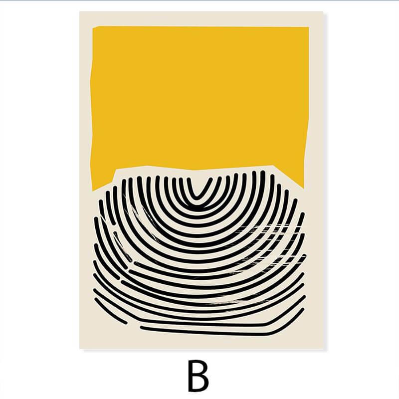 toile abstraite colorée jaune