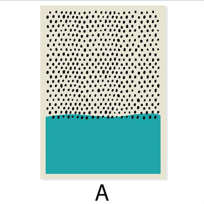 toile abstraite colorée bleu