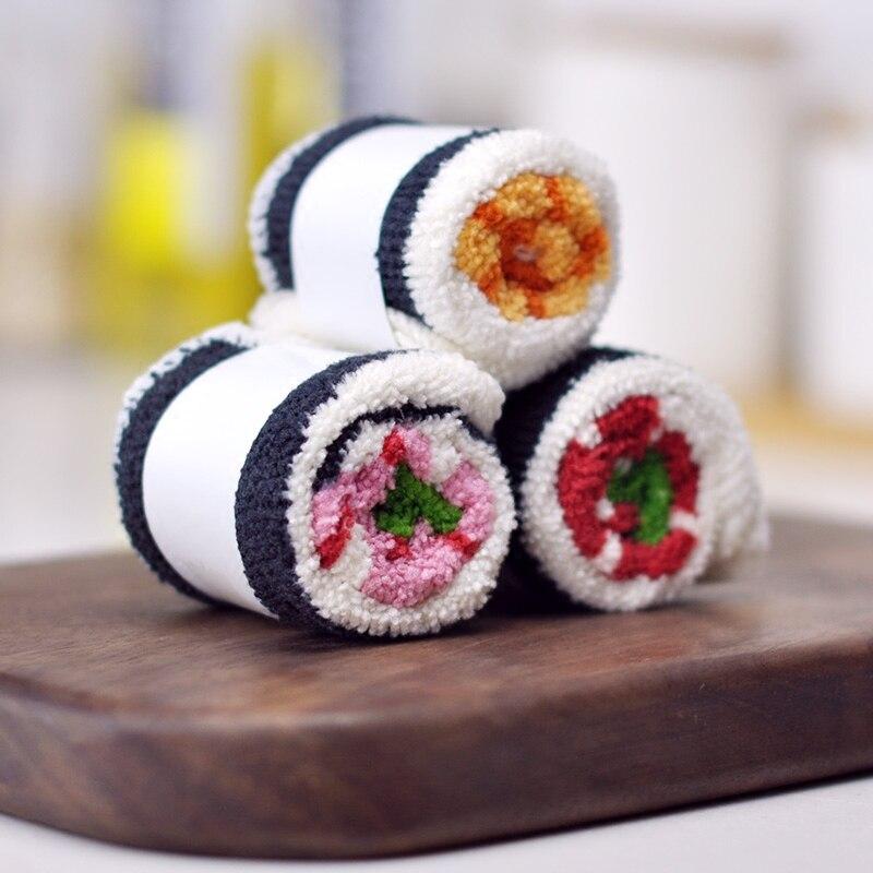 Serviette microfibre sushi - lot de 3