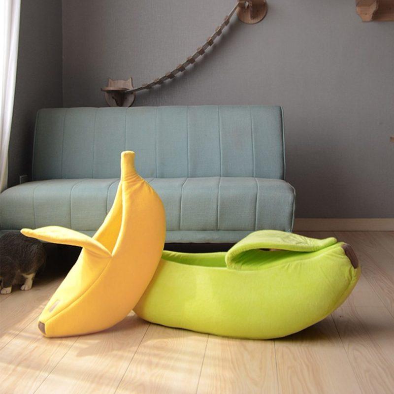 Lit banane jaune et vert