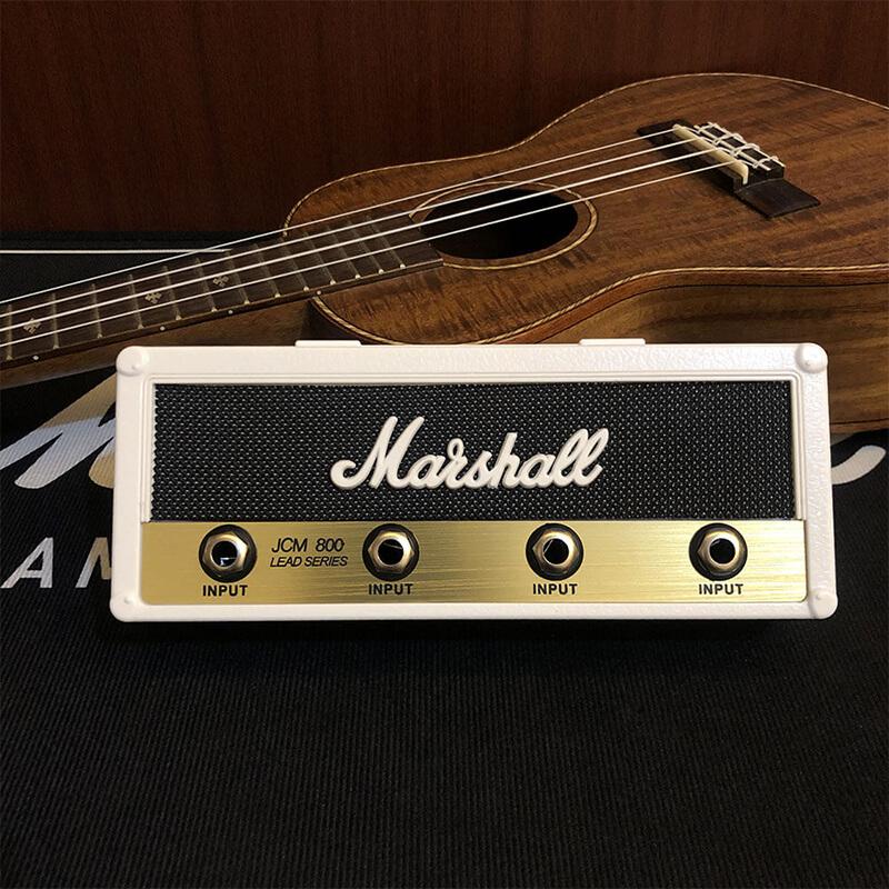 Porte clé marshall blanc avec guitare