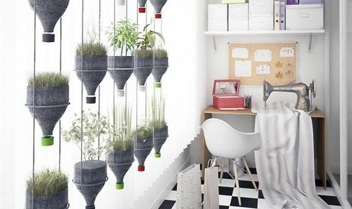 DIY mur végétal avec des bouteilles en plastique