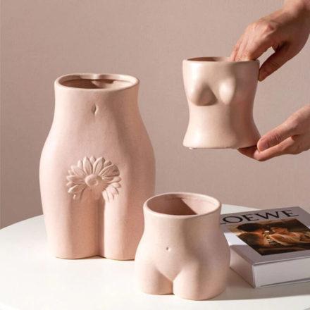 vase en forme de corps de femme