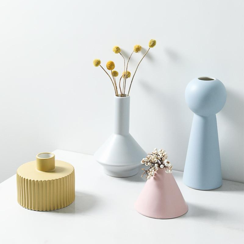 Quatres vases design fait-main