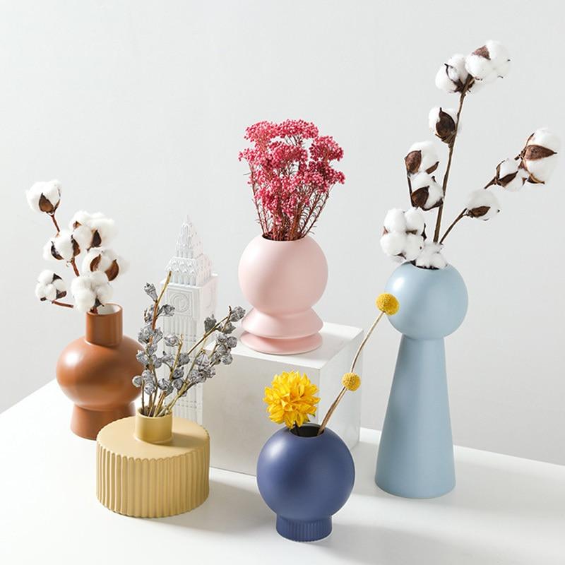 Vase géométriques design coloré