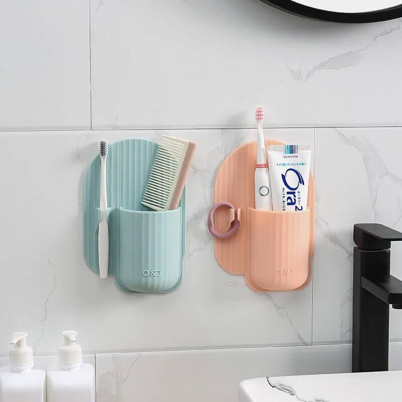 rangement de salle de bain à ventouse