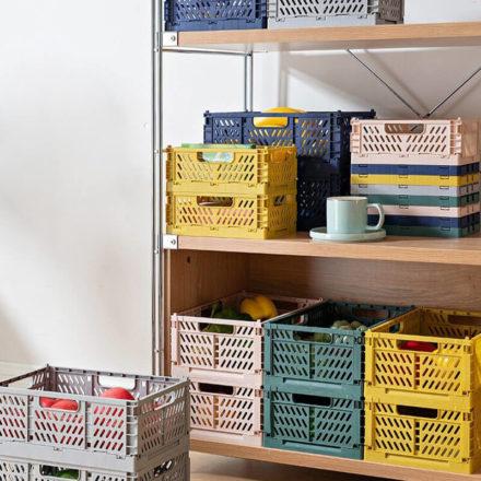 Caisse de rangement design en plastique recyclable
