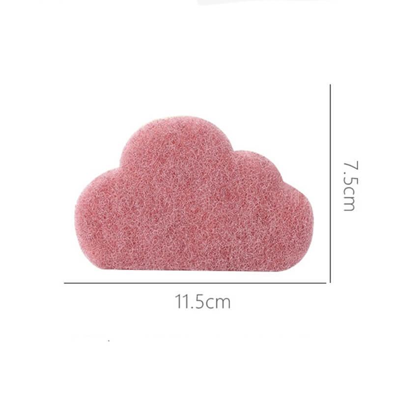 Dimensions de l'éponge en forme de nuage