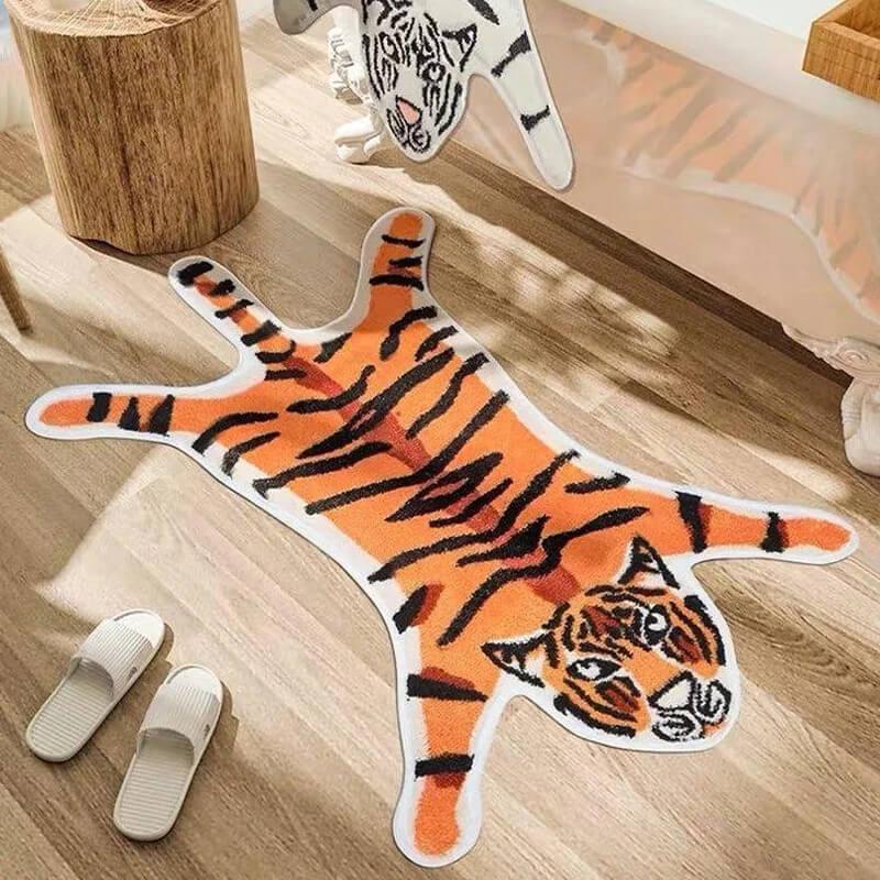 Tapis tigre style vintage