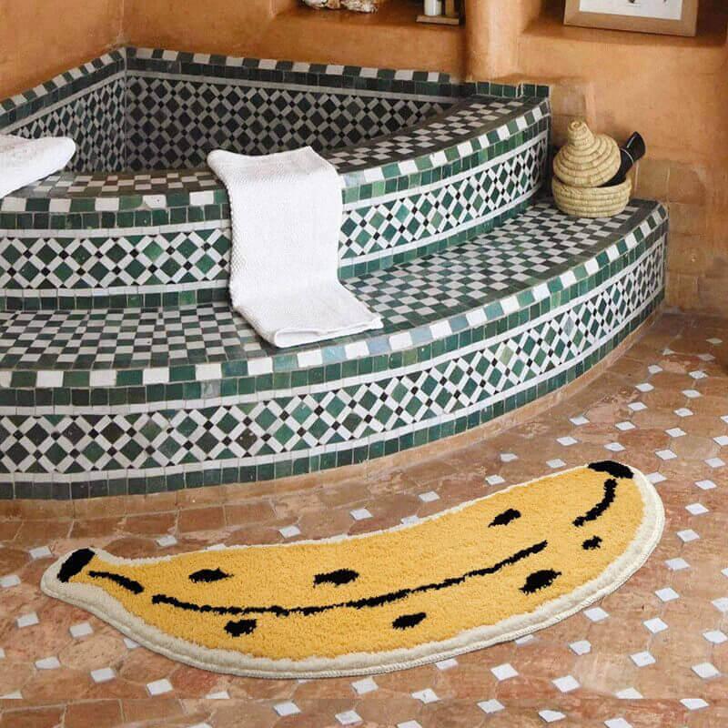 Tapis de salle de bain banane