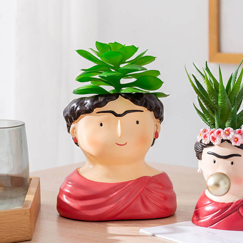 Pot de fleurs Frida Kahlo